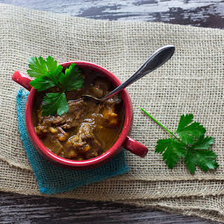 Slow Cooker Spiced Beef Stew with Sweet Potatoes.