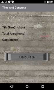 Tiles And Concrete Estimator - náhled