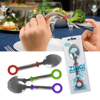 Zing! Spoon - A Utensil for Flinging Food