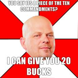 If you don't watch Pawn Stars, you won't get this.