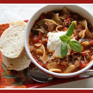Easy And Delicious Lasagna Soup.