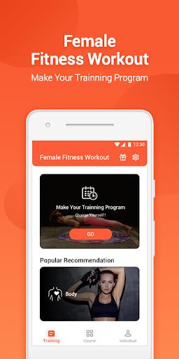 Female Fitness Workout screenshot 1