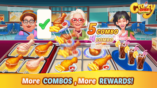 Crazy Chef: Fast Restaurant Cooking Games apkslow screenshots 3