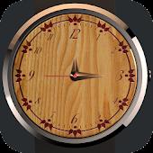 Analog Wood Watch Display