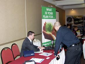 Photo: Career Fair 13:30-16:30 - Steve Lynch at the Direct Energy table