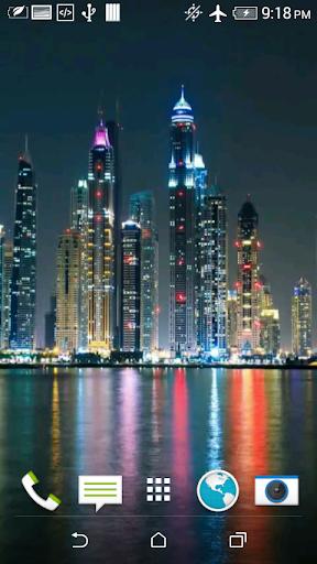 Night Dubai Video Wallpaper