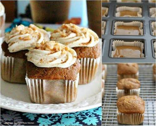 "Cinnamon Caramel Macchiato Cupcakes With Cream Cheese Frosting ""For a really fun..."