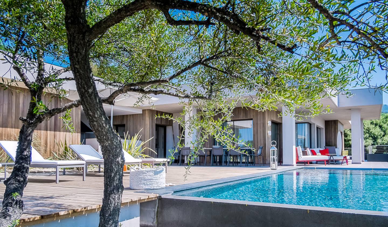 Villa avec piscine en bord de mer Olmeto
