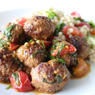 Moroccan Meatballs with Couscous Salad