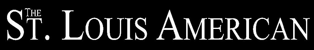 the saint louis american logo all white