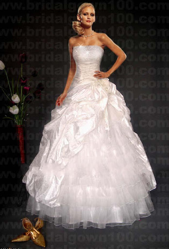 Shinny Strapless Wedding Gowns 2010