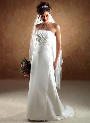 Strapless Slim Bridal Wedding Gown