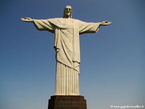Photo: BRESIL, Rio de Janeiro. Le Christ rédempteur sur le Corcovado.