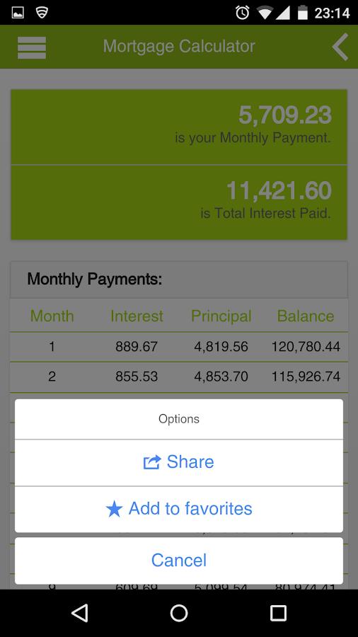 My Calculator- screenshot