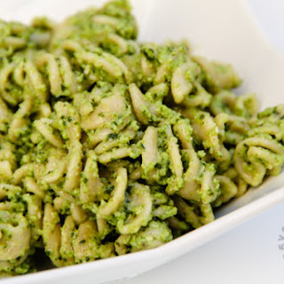 Broccoli Pesto (gluten-free, contains dairy).