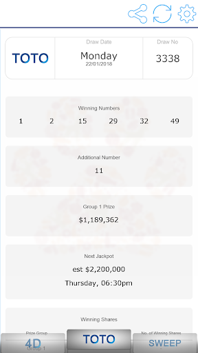 Fast Singapore Pools Toto 4D Result App Report on Mobile Action