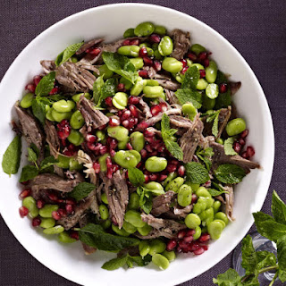 Lamb Salad with Mint, Beans and Pomegranate