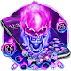 Download Purple Blue Fire Skull Gravity Theme For PC Windows and Mac