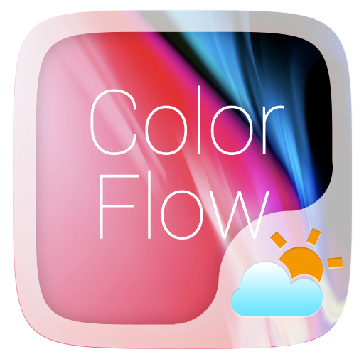 Color Flow GO Weather Widget Theme