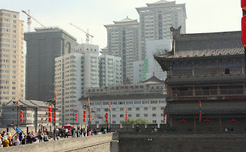 Photo: Day 188 -  The Old and the New -  East Gate on Old City Wall in Xi'an #2