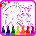 Coloring Soni The Hedgehogs Heros icon
