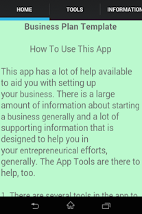 Business Plan Template Android Apps On Google Play - Business plan template for app