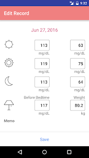 Simple blood glucose note- screenshot thumbnail