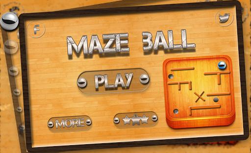 3D Maze ball Roll into a hole