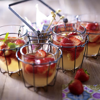 Strawberry and Rhubarb Punch.