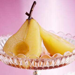 Ginger Poached Pears with Spiced Ricotta.