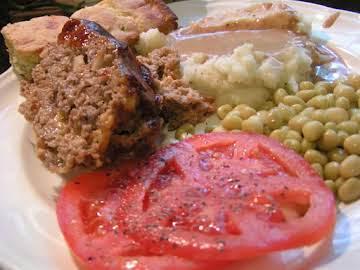 BBQ Cheeseburger & Potato Meatloaf