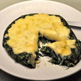 Cheesy Polenta Spinach Cake.