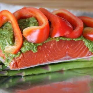 Salmon Pesto Veggie Pocket.