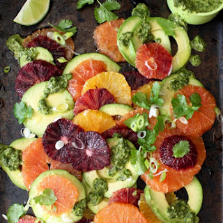 Orange Avocado Salad Recipe with Lime Dressing