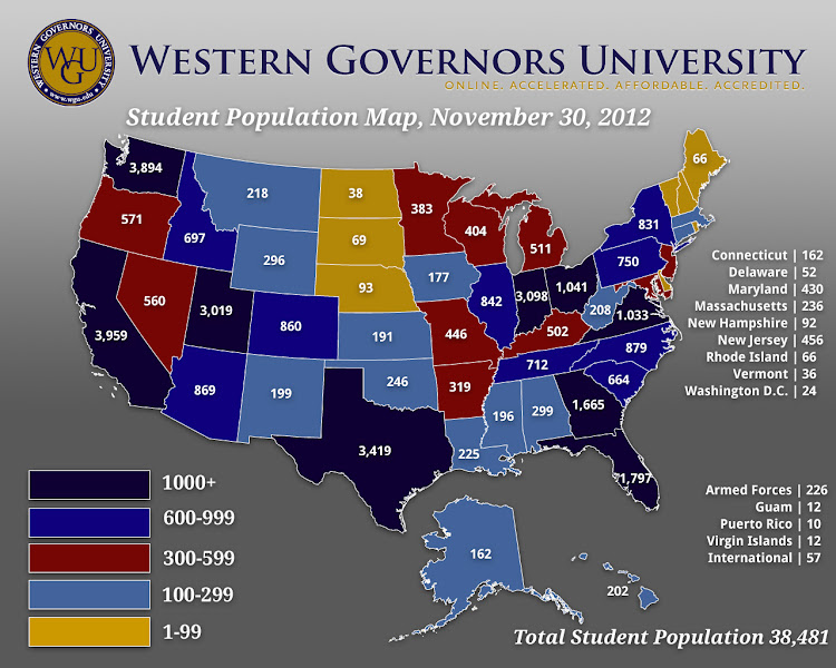 Photo: Where our students are as of Nov. 30, 2012! (Tag yourself where you live...)