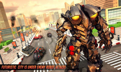 Real Flying Robot Bike : Robot Shooting Games 2.1 screenshots 2