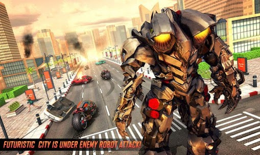 Real Flying Robot Bike : Robot Shooting Games 2