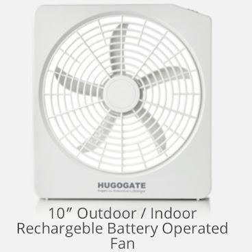 10吋戶外充電式電風扇  Rechargable Electronic Fan