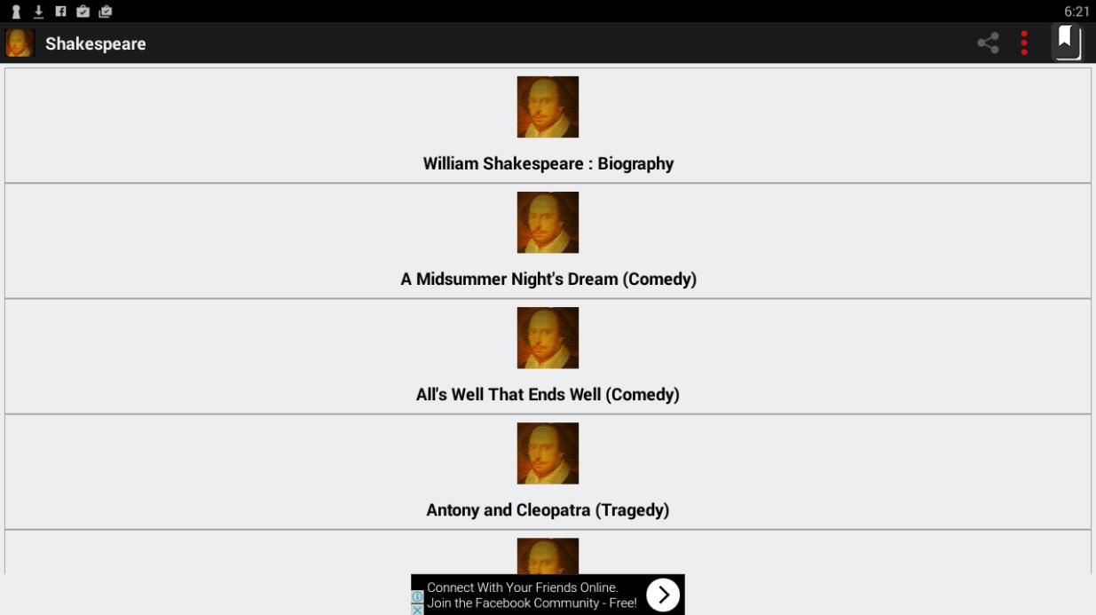 Shakespeare Complete Works- screenshot