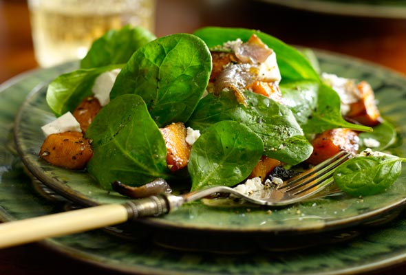 Roasted Sweet Potato and Feta Salad