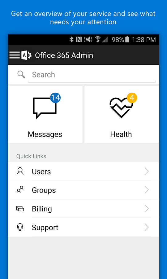 Office 365 Admin- screenshot