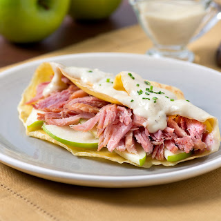 Ham, Apple & Cheddar Crepes.