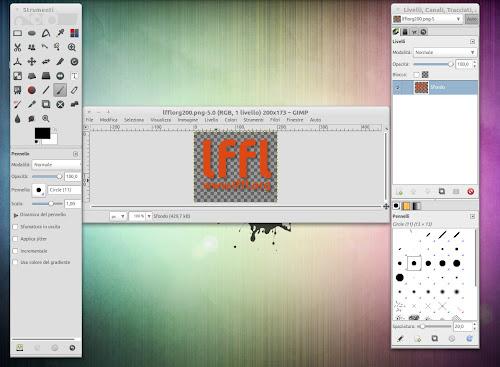 icone AwOken integrate nel nostro Gimp