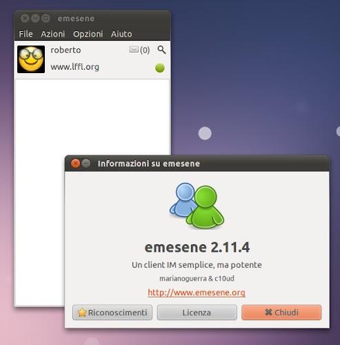Emesene 2.11.4 Stabile su Ubuntu