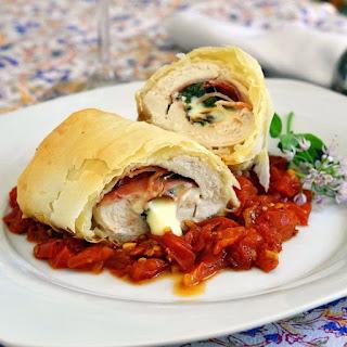 Phyllo Chicken Prosciutto Margherita.