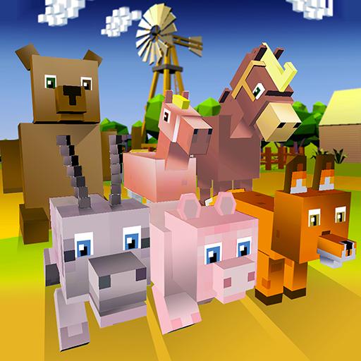 Blocky Animals Simulator - horse, pig and more!
