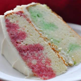 Holiday Jell-O Poke Cake.
