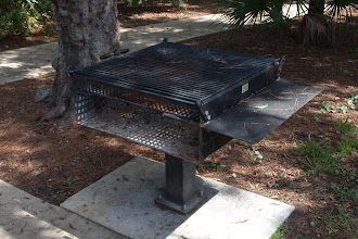 Photo: this grill is huge, using it fully would require more than the single picnic table beside it