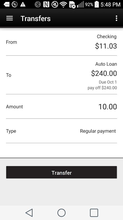 Vantage West Credit Union- screenshot