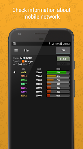 Cell Signal Monitor: monitoring of mobile networks screenshots 1